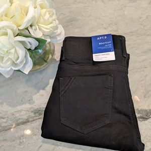 Denim - Black Apt 9 Boot cut Mid Rise Tummy Control Pants
